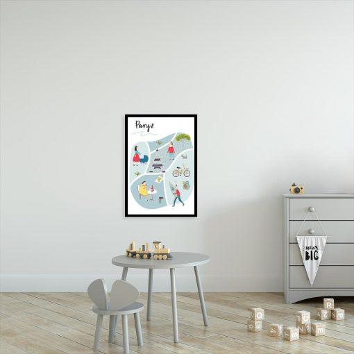 Plakat z motywem paryża