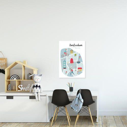 plakat z motywem holandii