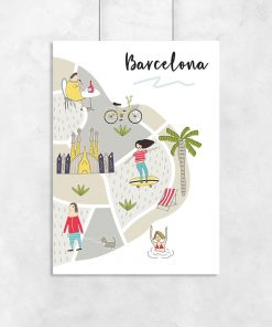 dziecięcy plakat barcelona