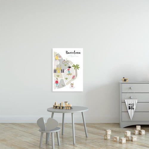 beżowy plakat barcelona