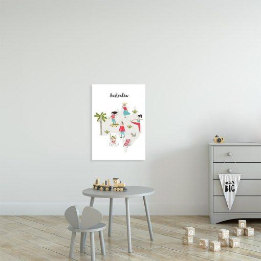 dziecięcy plakat z motywem australii