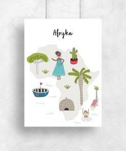 plakat z ilustracją afryki