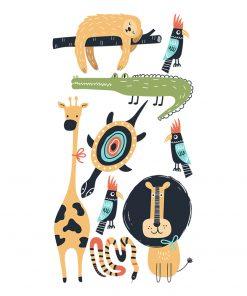 zwierzęta na naklejce