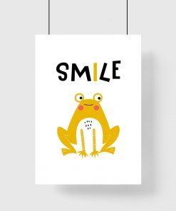plakat z żółtą żabką
