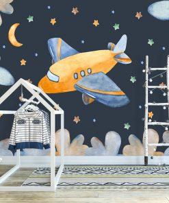 tapeta gwiazdy i księżyc