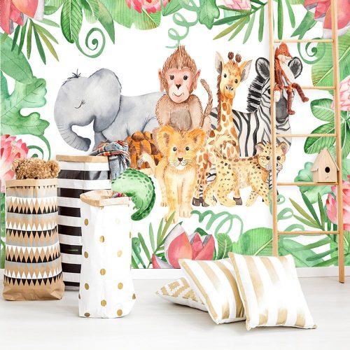 tapeta zwierzaki do pokoju dziecka