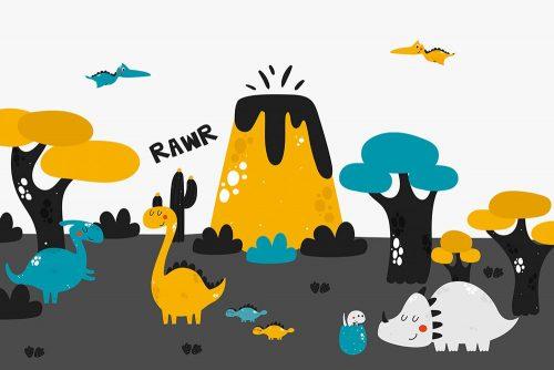 tapeta zabawne dinozaury