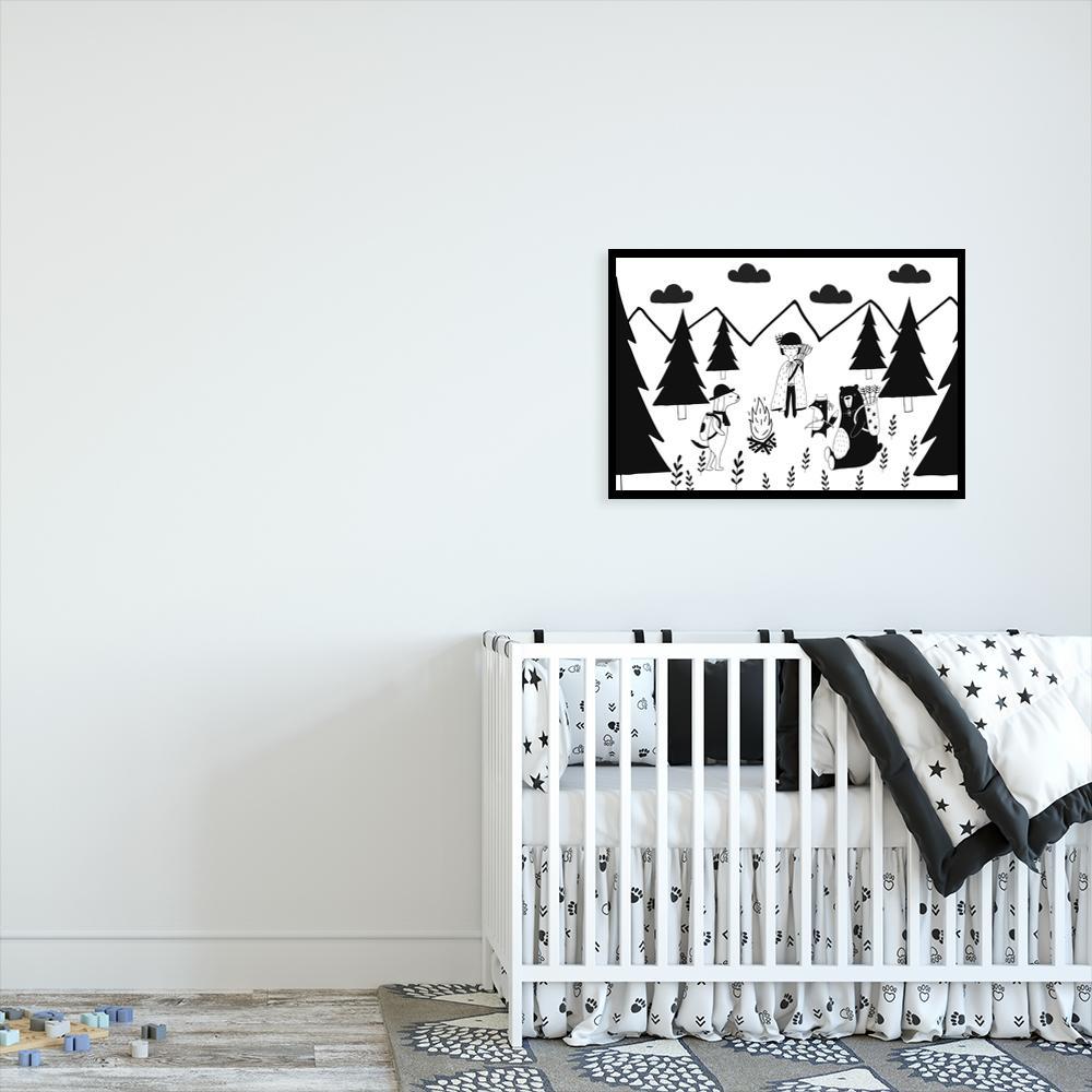 Plakaty dla dzieci czarno-białe i szare