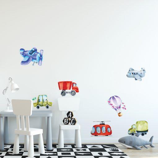naklejka z balonami