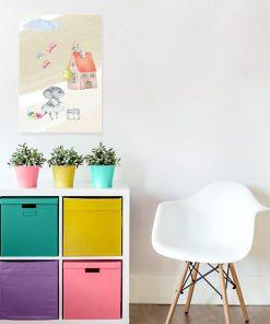 Obraz do pokoju dziecięcego - Myszka
