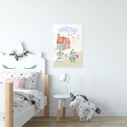 Obraz dla dzieci - Dwie zakochane myszki