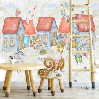 Fototapeta do pokoju dziecka - Urocze myszki