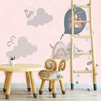 Fototapeta do pokoju dziecka z motywem chmurek