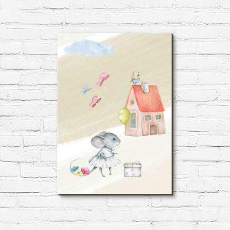 Obraz do pokoju dziecięcego - Mysz