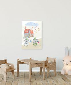 Obraz dziecięcy - Zakochane myszki
