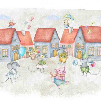 Obraz dziecięcy - Myszki