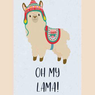 Plakat dziecięcy - Oh my lama!
