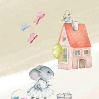 Obraz dziecięcy z myszką