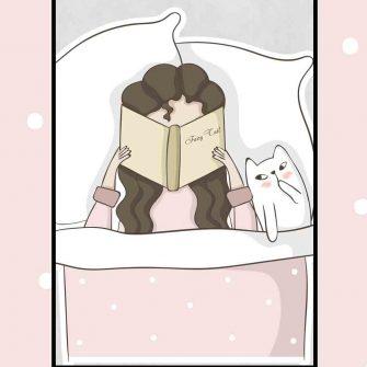 Plakat dziecięcy - Dziewczyna z książką
