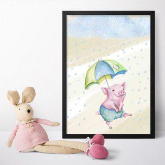 Plakat dla dziecka - Prosiak
