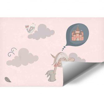 Fototapeta do pokoju dziecka z motywem śpiącej dziewczynki