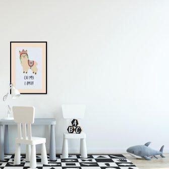 Plakat do pokoju dziecięcego - Oh my lama!