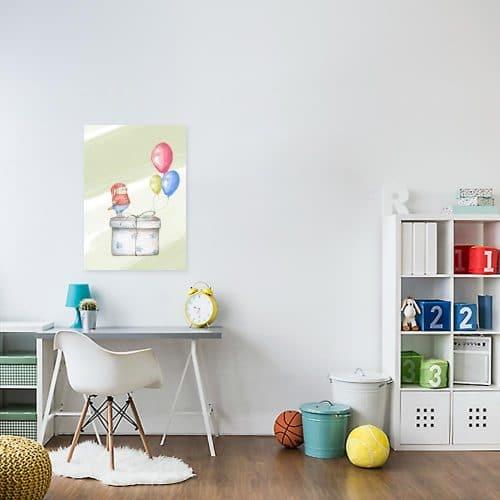 Obraz do pokoju dziecka z prezentem