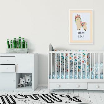 Plakat polecany do pokoju dziecka - Oh my lama!