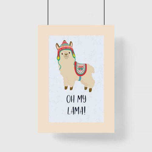 Plakat do pokoju dziecka - Oh my lama!