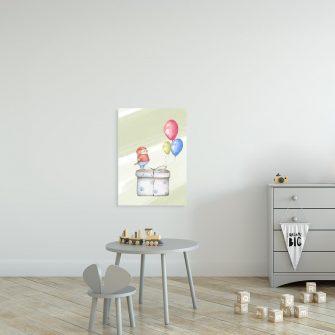 Obraz do pokoiku dziecięcego - Prezent