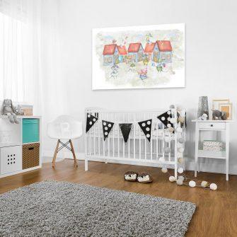 Obraz do pokoju dziecka - Rodzina zwierzątek