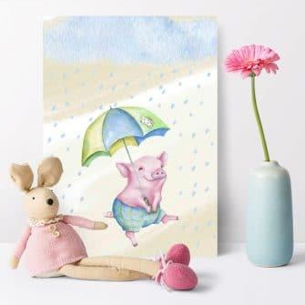Plakat dziecięcy - Świnka