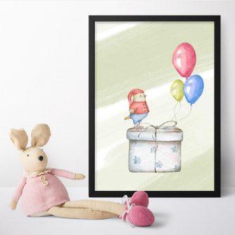 Plakat dla dziecka z prezentem