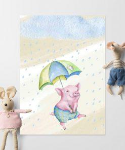 Plakat dziecięcy - Prosiak