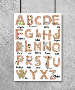 plakat do pokoju dziecka z alfabetem
