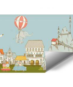 Fototapeta do pokoju dziecka - Słonik lecący w powietrzu