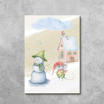 Obraz dla dziecka - Zimowa mysz