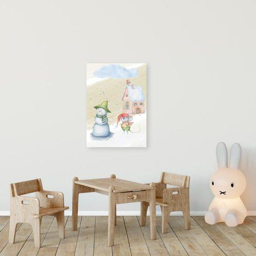 Obraz z bałwankiem dla dziecka