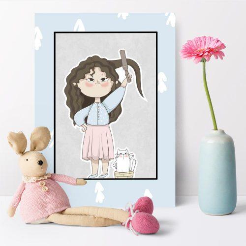 Plakat dziecięcy - Poranne czesanie