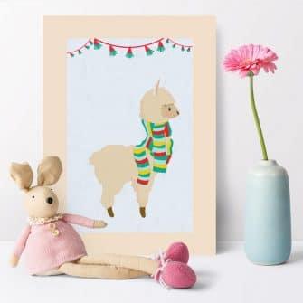 Plakat do pokoju dziecka z genialną lamą