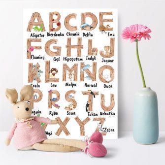 dekoracje alfabety, tabliczki mnożenia