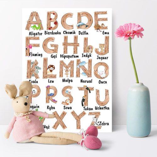 Plakat dla dziewczynki - Alfabet