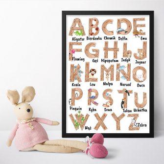 Plakat dla chłopca - Alfabet