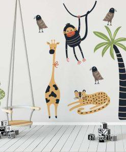 Komplet naklejek do pokoju dziecka - Zwierzaki