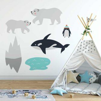 Dziecięce naklejki do pokoju chłopca - Foka