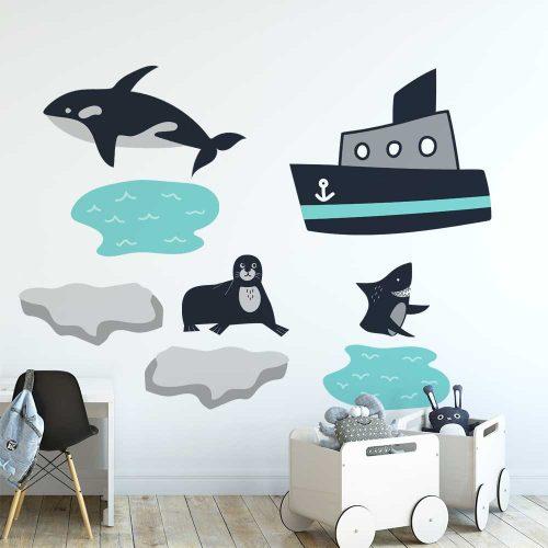Zestaw naklejek - Orka i statek