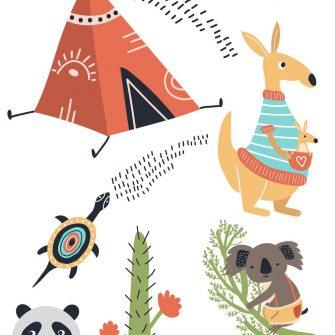 Naklejki dziecięce - Dzikie zwierzęta