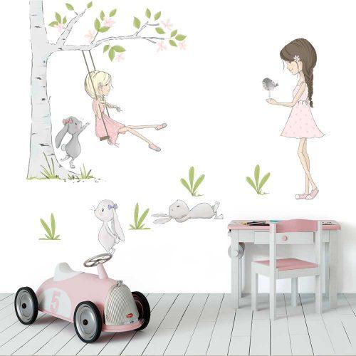 Komplet naklejek do pokoju dziecka - Dziewczynki