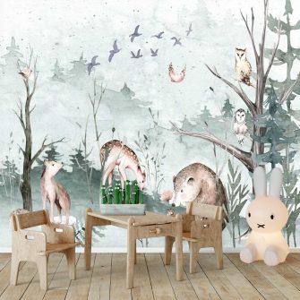Fototapeta z lasem do pokoju dziecięcego
