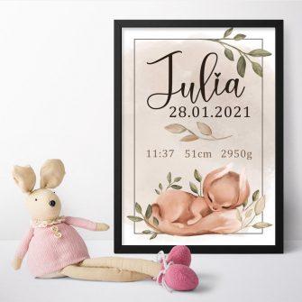 Plakat personalizowany dla dziewczynki